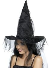Witches Hat Adult Womens Smiffys Fancy Dress Costume Hat
