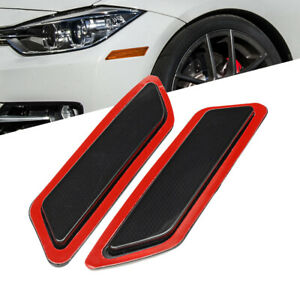 For BMW F30 F31 13-15 3-Series Smoke Front Bumper Side Marker Reflector Lights
