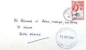 1960 Tristan da Cunha cover to St. Helena