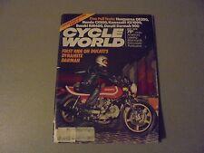 MAY 1978 CYCLE WORLD MAGAZINE,HUSKY OR390,HONDA CX500,SUZUKI RM400,DUCATI 900,