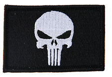 Punisher Black Military Tactical Airsoft Paintball Morale Operator Cap Patch HS