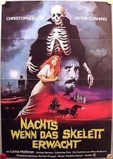 Nachts wenn das Skelett erwacht A1 Plakat Creeping Flesh Christopher Lee Cushing