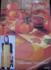 Halloween Harvest Tablerunner pattern Pumpkin Apron wallhanging placemat