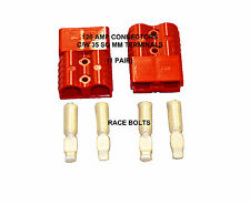 ANDERSON SB 120 AMP RED CONNECTOR JUMP PLUG BATTERY SLAVE ASSIST - 1 PAIR 35 MM