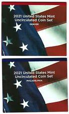 USA: United States Mint Uncirculated Coin Set 2021, 2x 2,16 Dollar, 14 Münzen