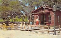 FL Silver Springs - SIX-GUN TERRITORY Red School house Buggy 1959-64 postcard
