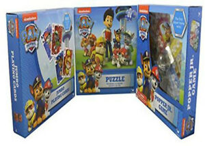 Paw Patrol 3 Game Set Jigsaw Puzzle Popper Game and Jumbo Cards Toy