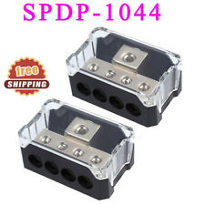2 Pcs Distribution Blocks Platinum Series 1/0 Gauge In to 00006000  4 Gauge Out Spdp-1044