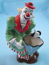 Vintage 1957 YONA ORIGINAL Clown w/ umbrella wall pocket SHAFFORD JAPAN