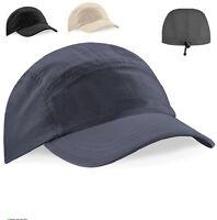 GREY BLACK Waterproof Nylon Breathable Tactel Performance Baseball Cap Hat Visor