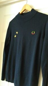 Fred perry bella freud navy jumper size 12 wool