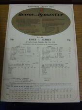 21/07/1979 Cricket Scorecard: Benson And Hedges Cup Final, Essex v Surrey [At Lo
