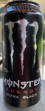 NEW MONSTER ENERGY ULTRA BLACK DRINK 16 FL OZ FULL CAN ZERO SUGAR & CALORIES