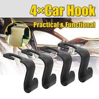 4 Pcs Car Seat Hook Universal Holder Hanger Bag Headrest OrganizerStorage Auto