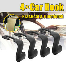 4 Pcs Car Seat Hook Universal Holder Hanger Bag Headrest Organizer Storage Auto