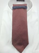 Men's Perry Ellis RED Patterned Neck Tie - MSRP $55 - Clearance 75% off