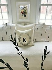 PAIR Large tribal African Pillow Covers Black & White Zipper Closure Tribal Chic