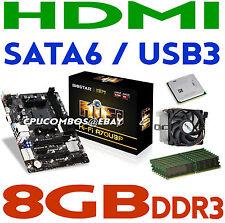 AMD A4-7300 FM2 CPU/APU+8GB DDR3 RAM+BIOSTAR Hi-Fi A70U3P HDMI Motherboard