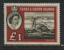 Turks & Caicos QEII 1st set £1 unused no gum