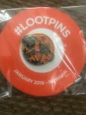 New listing Loot Crate Pin January 2016 Invasion Exclusive Alien Robot Collectible Unopened