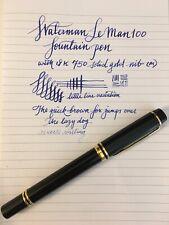 Waterman Le Man 100 Fountain Pen With 18k Gold Medium Nib