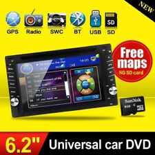"AUTORADIO MIT DVD CD NAVIGATION NAVI GPS BLUETOOTH 6.2"" BILDSCHIRM USB MP3 1DIN"
