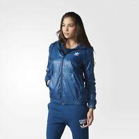 adidas Originals Women's 80's Style Windbreaker Retro Blue