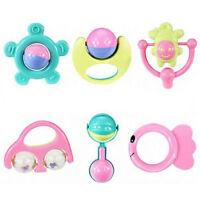 6Pcs Animal Handbells Developmental Toy Bed Bells Kids Baby Toys Rattle T1