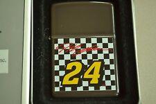 ZIPPO Lighter, Jeff Gordon #24, Checkered Flag, Black Ice, Unfired 1996/XII M351