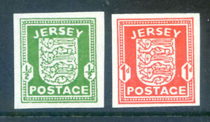 Jersey 1941 ½d & 1d War Time completely imperf singles mint nh (2020/11/23#03)
