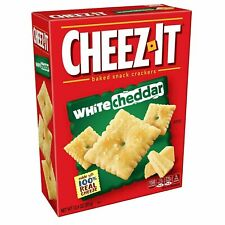 Cheez-It White Cheddar Cheese Crackers - School Lunch Food, Baked Snack