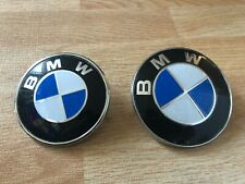 2x BMW 82mm 74mm Bonnet Boot Badges Trunk Badge E30 E46 E60 1 3 X Series Blue