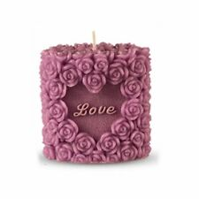 3D Cylindrical Rose Candle Mould DIY Mold Wedding Cake Decorating Silicone (+)