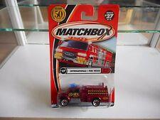 Matchbox International Fire Truck in Red on Blister
