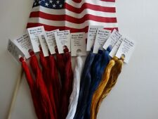 America the Beautiful Collection ,hand dyed floss GIFT BOXED! 12 (20 yd skeins