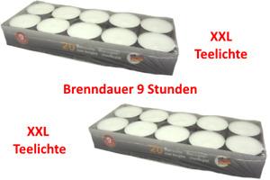 40 Maxi Teelichter Brenndauer 9 Stunden-Deutsche Marken Qualität - Teelichte XXL