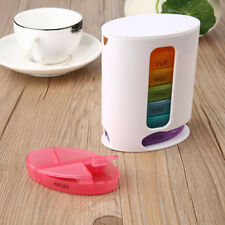 Portable 7 Days Pill Box Medicine Tablet Dispenser Organiser Weekly Container