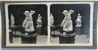 Escultura Cupido Museo Del Luxemburgo París Foto Estéreo Vintage