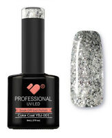 YBJ-001 VB™ Line Hot Platinum Silver Glitter - UV/LED soak off gel nail polish