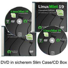 Linux Mint 19 Cinnamon, 32+64 Bit Betriebssysteme  ✔2er DVD Pack  ✔CD Box, Hülle