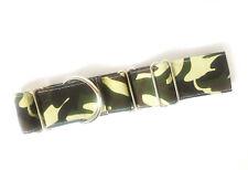 Martingale Dog Collar GREEN CAMO Greyhound Whippet Lurcher & Matching Dog Lead