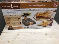 New listing Copper Chef Bake And Crisp Pan 5 Piece Set Non Stick New & Sealed. 11� X 7�X 2�.
