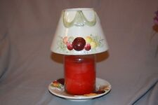 YANKEE CANDLE LARGE SHADE MATCHING PLATE SUGARED PLUMS IRIDESCENT FRUIT SWAG