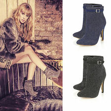 Clubwear Patternless Faux Suede Boots for Women