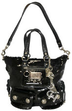 Authentic COACH 2WAY tote bag Poppy Sequin Spotlight sequined black ladies 13821