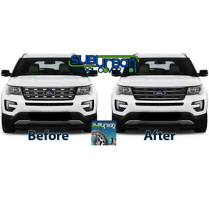 2016-2017 Ford Explorer Base Ltd Sport XLT GLOSS BLACK Grille Insert GI/139BLK