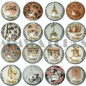 FRENCH SHABBY CHIC STYLE PARIS FRANCE CERAMIC CUPBOARD DOOR KNOBS DRAWER KB05