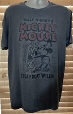 WALT DISNEY'S MICKEY MOUSE IN STEAMBOAT WILLIE ADULT T-SHIRT X-LARGE NWT