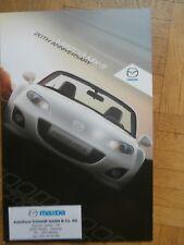 Mazda MX-5 (Typ NC) 20th Anniversary Prospekt +Preise Brochure Katalog Catalogue
