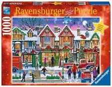 RAVENSBURGER CHRISTMAS LE COLLECTOR PUZZLE CHRISTMAS IN THE SQUARE 1000 #15291